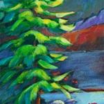 """An Acrylic Painting of a tree named """"On the Shore of Something Wonderful"""" by Canadian artist, Theresa Eisenbarth"""