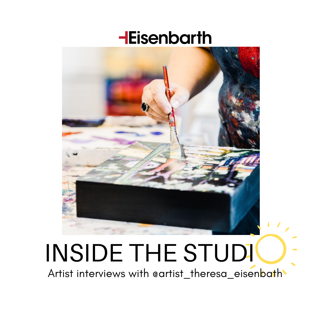 an image of an artist Painting by artist Theresa Eisenbarth for the Inside the Studio interview with artists from all over Canada and the USA