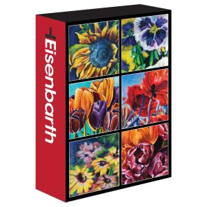 An image of a puzzle box of flowers by artist Theresa Eisenbarth